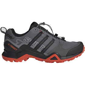 adidas TERREX Swift R2 Gore-Tex Zapatillas Senderismo Resistente al Agua Hombre, grey five/core black/active orange